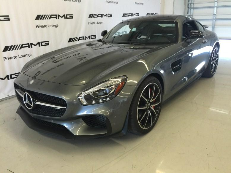 2015 AMG GT Enjoying refreshments and free