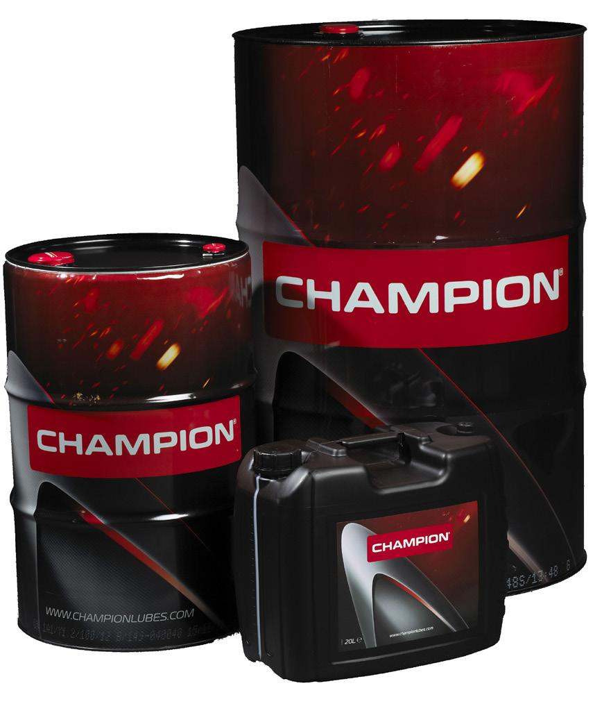 NEW PRODUCTS AGRICULTURE NEW CHAMPION U.T.T. OIL 50 KEY BENEFITS Intended for use in wet brakes in Volvo construction equipment. Meets the specification Volvo 97304 (wb 102).