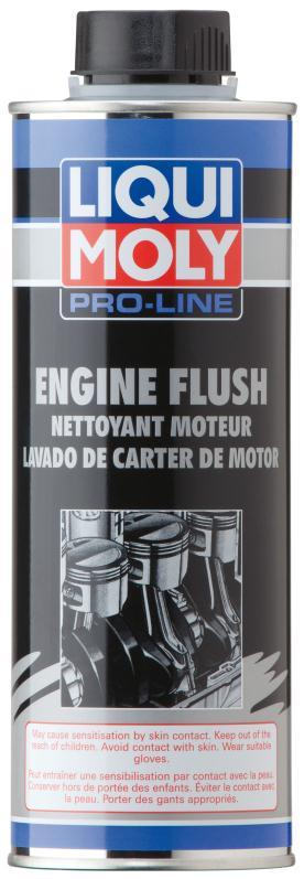 Pro-Line Engine Flush DESCRIPTION: Highly effective detergent additives in Engine Flush clean interior engine before oil change. PROPERTIES: Gentle and rapid cleaning.