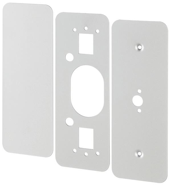 Cover plates 229 Kit (For 22 Rim device) Kit contains inside and outside plates for hinge stile