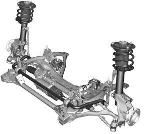 F30 Front Suspension The double-pivot front axle with trailing links in the F30 represents the optimum combination of driving dynamics and ride comfort.
