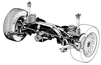 Integral Axle (III and IV) The integral axle is a multi-link rear suspension which was introduced on the E31.