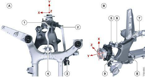 Theoretically, i.e. kinematically, the design of the Integral IV rear axle could facilitate steering capabilities, however a large actuator would ve been required and it would ve required additional