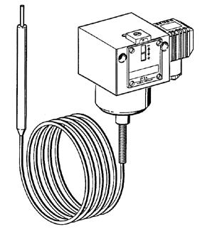 Capillary Tube Thermostats Model TER Technical Data (not for Ex-versions) Housing: Mounting position: Max.