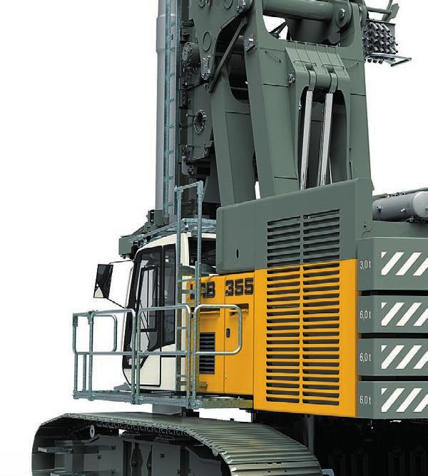 Double rotary drilling DBA 3 Option: additional counterweight x 3 tonnes (only for double rotary