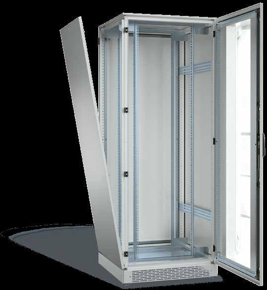 SCHÄFER IS-1 IT Cabinet Door opening angle stand-alone: 240 bayed: 180 IP55 rating The SCHÄFER IS-1 is the response to constantly increasing demands in data, server and network technology, offering,