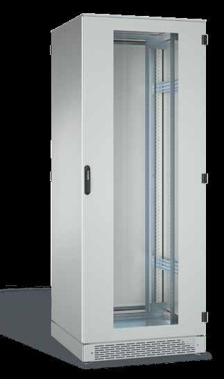 SCHÄFER IS-1 IT Cabinet IP55 rating High-grade steel cabinets (light grey RAL 7035).