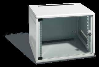 III. NT Box Wall Cabinets, NT Mini Rack High-grade steel housing (light grey RAL 7035) with complete range of basic equipment Optimum accessibility for fast installation: once the door is open, the