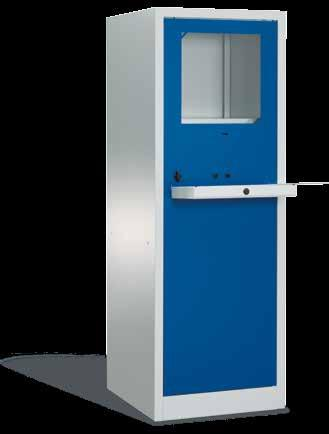 Complete with two fixed, galvanised shelves, height adjustable in mounting hole pitch pattern Front door and fold-up