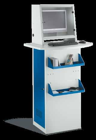 IV. PC Cabinets, PC Enclosures SCHÄFER IT Terminal Mobile IT Cabinet 1 2 PC enclosure for use on factory floors and in warehouses Cabinet and monitor housing manufactured from high-quality sheet
