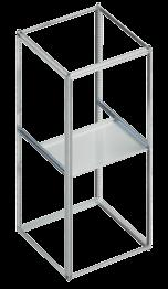 strips etc., can be mounted sideways onto the centre rail. Delivery comprises: 2 mounting brackets and fixing accessories Mounting bracket 1 U 6782500 2 U 7782600 Shelf, fixed (not 482.