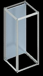 depth + 250 mm, min. depth 500 mm RAL 9005 (black) Width (mm) Depth (mm) 422 500 6758550 422 600 6760550 482.6 mm (19 ) heavy-duty shelf, pull-out The pull-out version of the 482.