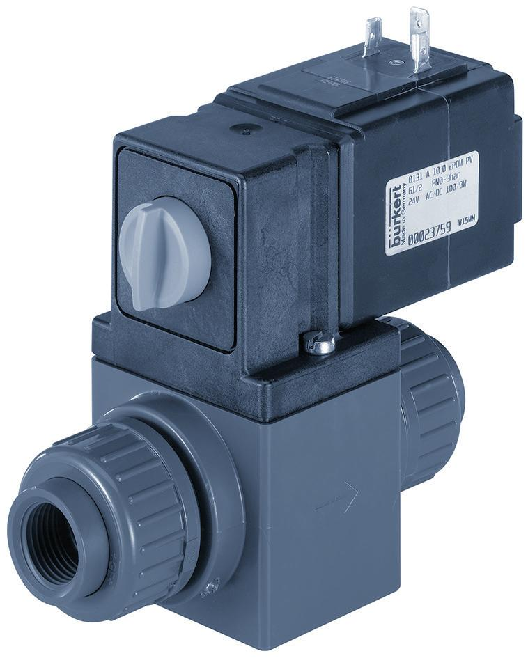 Type 0131 2/2- or 3/2-way solenoid valve