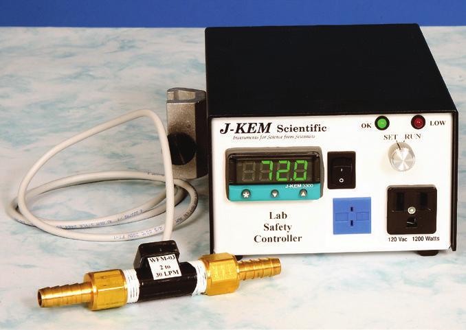 Water Flow Monitors/Controllers 0115 12167 Model LS-120 Lab Safety Controller, J-Kem Lab safety controller by J-Kem combines all the features of the Digital Monitor and the Water-Flow Monitor into a