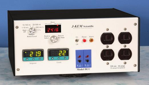 High Power Controller 12317 Model HCC, J-Kem The HCC line of controllers are designed to power large-scale equipment with volumes up to 100 liters.