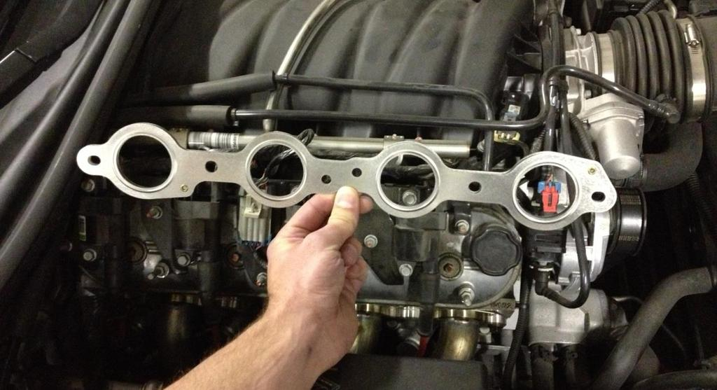 NOTE: Cometic MLS gaskets must be installed in the correct orientation to avoid blocking any spark plug holes!