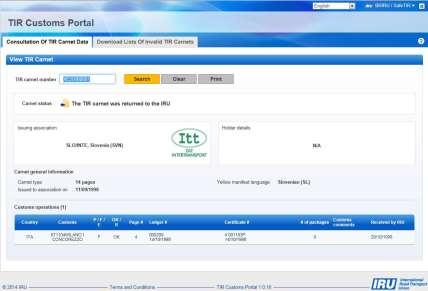 TIR Customs Portal Key Features & Benefits TIR Customs Portal