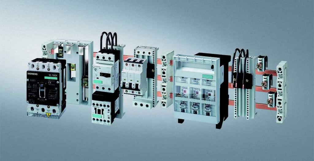 8US Busbar Systems 40 mm Busbar Systems General data Overview The 40 mm busbar system is used in machinery and plant engineering, in motor control centers and in power distribution systems of the low