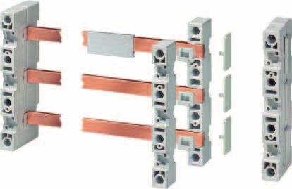 8US Busbar Systems 40 mm Busbar Systems Siemens AG 2007 Base assemblies Overview 2 1 3 4 5 1 Flat copper profile 2 Busbar support 3 Cover profile 4 Inlay part 5 Covering cap Selection and ordering