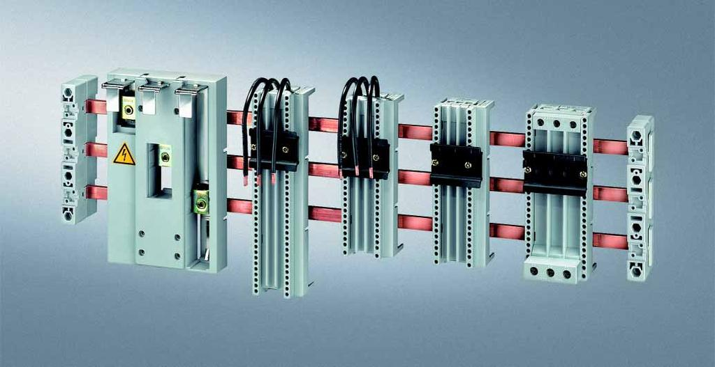 8US Busbar Systems 40 mm Busbar Systems Siemens AG 2007 Busbar adapters and device holders Overview Selection and ordering data For copper busbars according to DIN 46433, width: 12 mm and 15 mm,