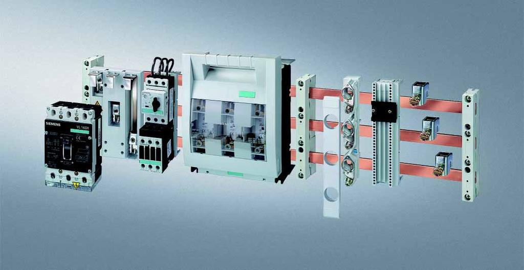 8US Busbar Systems 60 mm Busbar Systems General data Overview The 60 mm busbar system is used preferably in control cabinet installation, in motor control centers and in power distribution systems of