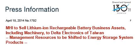Li-ion battery cell Business