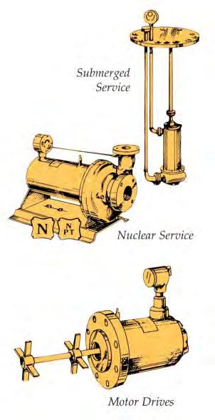 Special Application Engineering Submerged Service Nuclear Service Motor Drives Submerged Service Pumps G SERIES submerged service pumps offer many advantages over conventional pumps when used in