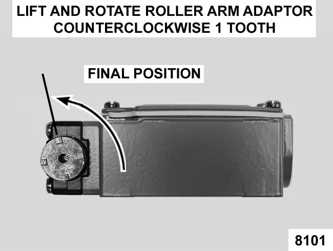 NOTE: The 0 position of the roller arm locking tab is the starting point for alignment only.