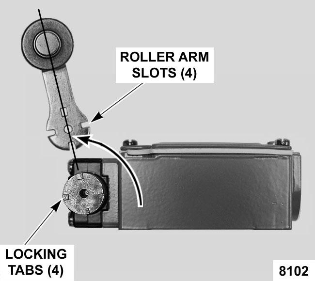 Place roller arm adaptor on the gear cam to engage the teeth.