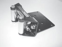 7. Attach fairlead to the fairlead mounting bracket (A2), figure 7. Please note that the fairlead and fairlead mounting plate are supplied in the winch kit.