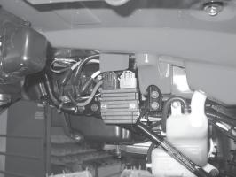 e. Position the contactor with the post for the positive battery cable (red cable) in the lower left corner (leads for the handlebar switch are positioned up), figure 15 & 16.