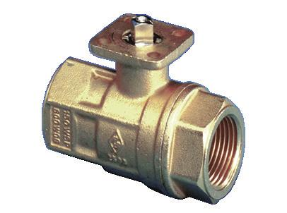 mount 600 WOG brass ball valve, with O-ring energized Teflon seats for low torque, ISO 5211 direct mount actuator pad
