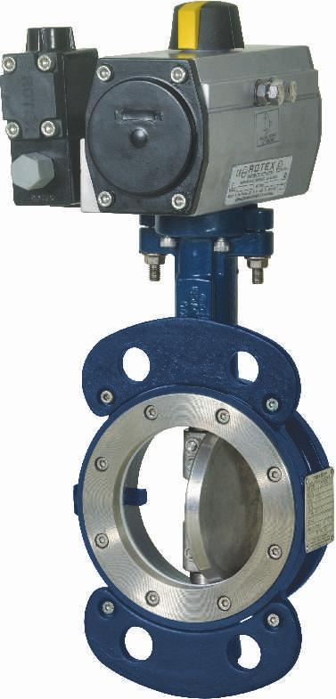 Butterfly Valve with Pneumatic Actuator and Solenoid Valve MAXFLOW Butterfly