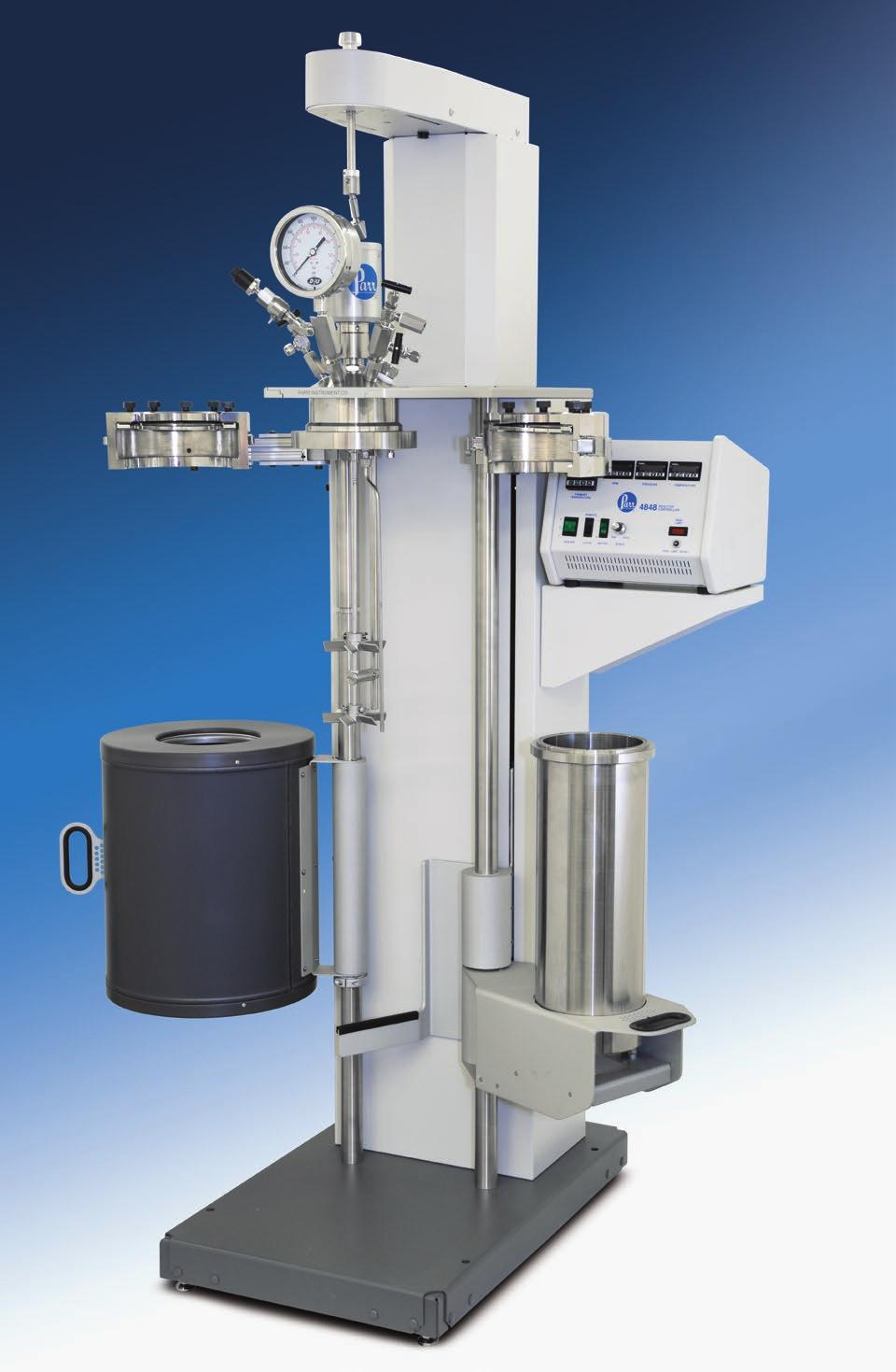 Series 4550 1 & 2 Gallon Reactor Systems Series Number: 4550 Type: General Purpose Stand: Floor Stand Vessel Mounting: Moveable or Fixed Head Vessel Sizes, Gallons: 1 and 2 Standard Pressure MAWP