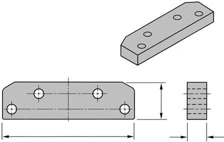 Spacer Block for Mounting PA Bracket on Rabbet P45-110 1""