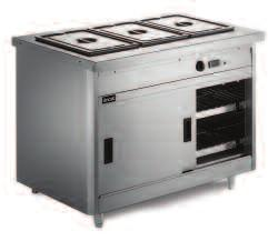 800 Series Bain marie and plain top models Bain marie models Plain top models Units available to take 3,4,5 or 6 x 1/1 GN containers up to 150mm deep