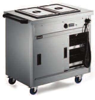 670 Series Bain marie and plain top models Bain marie models Plain top models Units available to take 2,3,4 or 5 x 1/1 GN containers up to 150mm deep Thermostatically controlled bain marie top can be