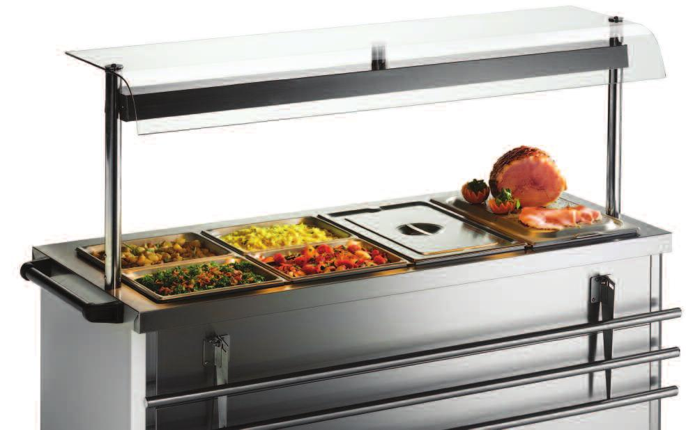 670 Series Gantries 670 Series Colour options Hygienic food service with style All 670 Series hot cupboards are available with optional gantries, either as ambient units or fitted with quartz heat