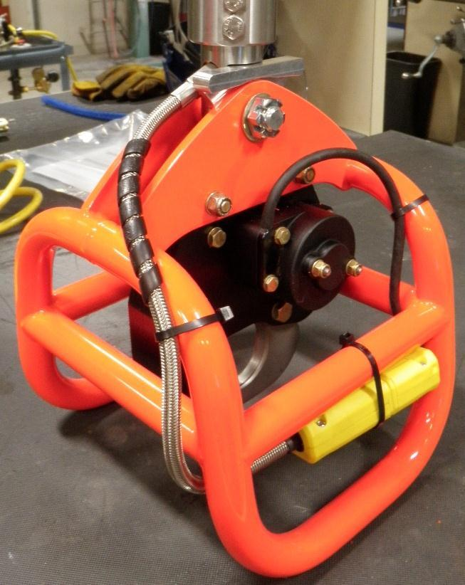Electric Swivel Installation continued The recommended electrical cable routing at the cargo hook is shown below.