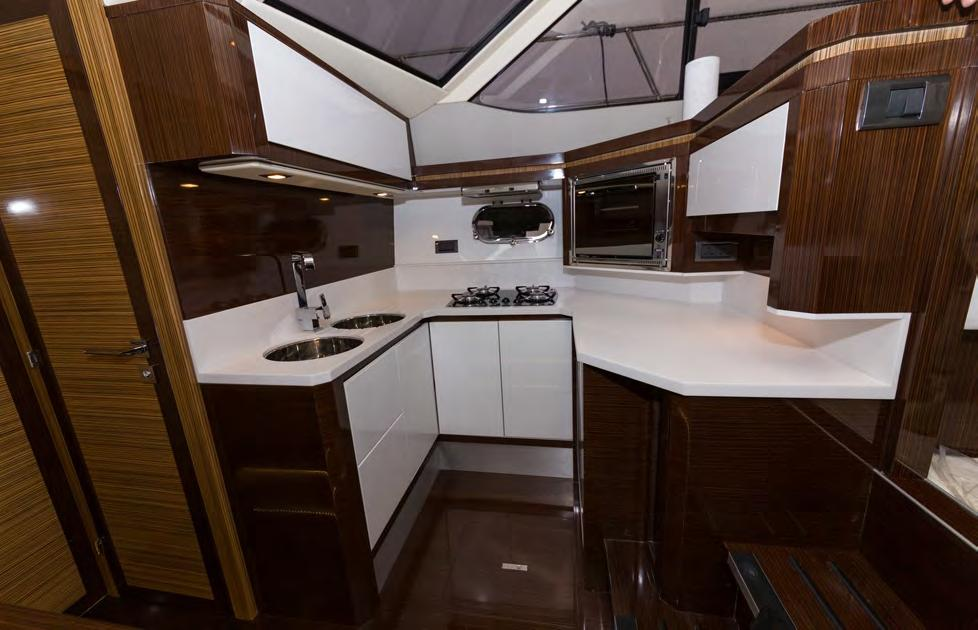 Enjoy the extra space and Enjoy comfort the of the extra dinette, space which and comfort is complimented of the by our dinette, gloss which galley to is complimented