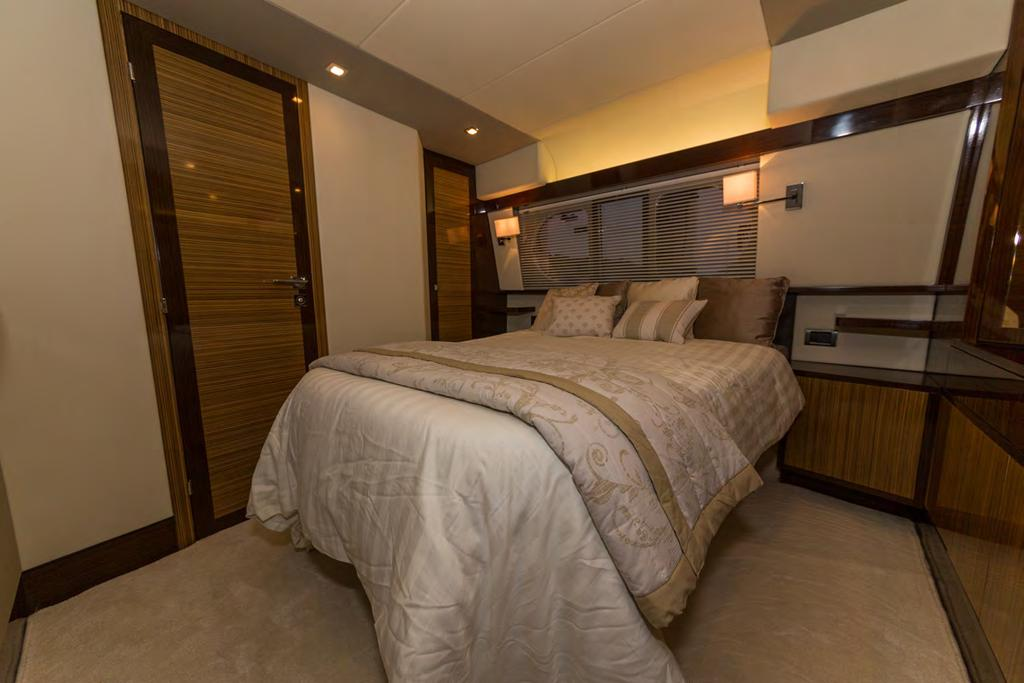 COMFORTABLE CABINS With extensive views from the transom,