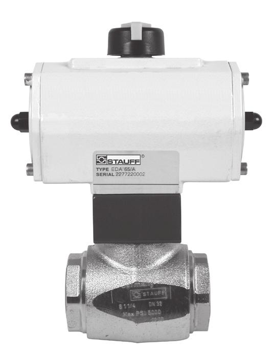 Spare Parts / Accessories / Options Double-Acting Pneumatic Actuators Type AD Single-Acting Pneumatic Actuators Type AS Electric Actuators Type AE Most STAUFF ball valves can be factory-mounted to