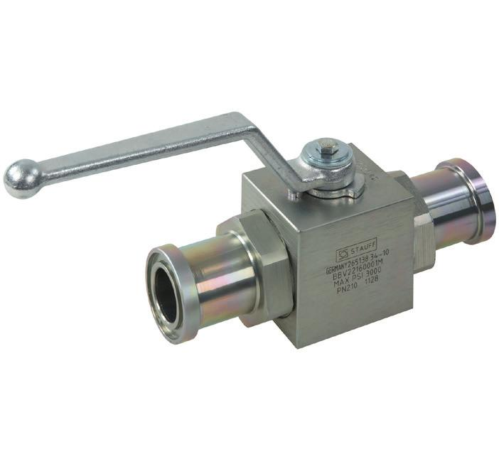Two-Way Ball Valves A High-Pressure Block Body Ball Valve Type BBV-2-F List of Components No. Qty.