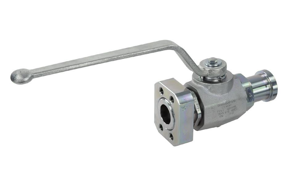 Two-Way Ball Valves High-Pressure Forged Body Ball Valve Typ FBV-2-F/C A Characteristics Two-way high-pressure forged body ball valves designed for use as on/off devices for hydraulic applications