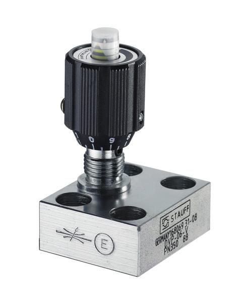 Flow Control Valves Throttle and Shut-Off Valve Type DVP (Manifold Assembly) L6 L7 G2 C D6 D5 B2 B1 D4 D3 B A O-rings included in delivery L5 L4 L3 L1 Characteristics Dimensions For panel mounting,