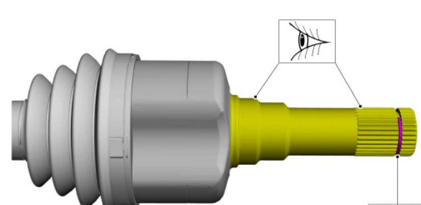 - Upon removal, inspect the inner splines and ensure the circlip is still on the shaft. If not, you must look into the differential and retrieve it before installing the new halfshafts.