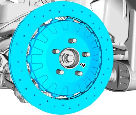 - Install the supplied rear Brake Rotors.