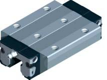 Rexroth Ball Rail Systems Standard Runner Blocks, Steel Version Runner Block 1653- Standard Width, long Versions: Runner block without ball retainer: for part numbers, see table Runner block with