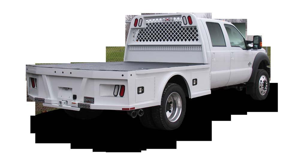 PGNC STANDARD FEATURES Skirted gooseneck styling with integrated front and rear toolboxes Internal stake pockets lining both sides and rear of the platform Rub rails installed on both sides of