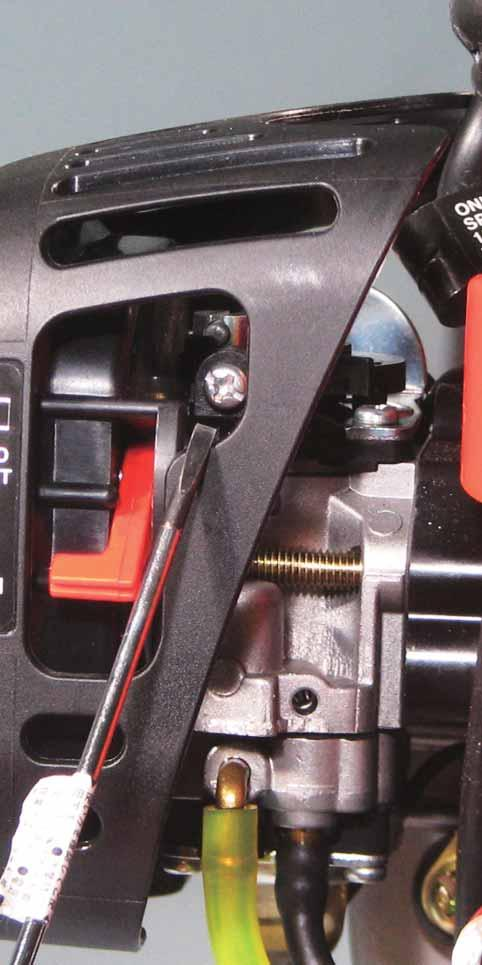 Adjust Idle mixture needle (A) to reach maximum idle speed with 2.5 mm blade screwdriver. (A) 3.